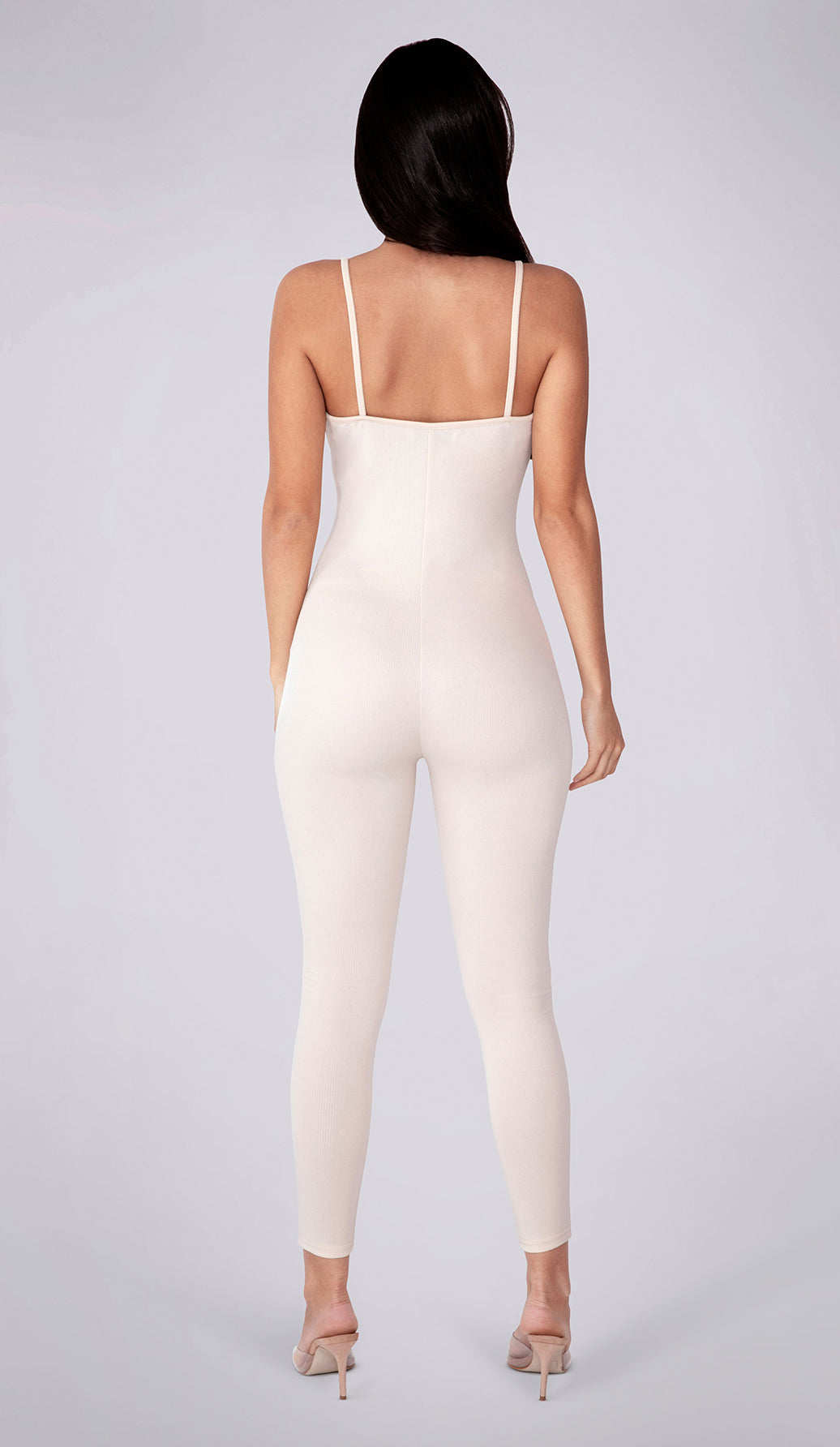 NELLA Ribbed Jumpsuit- Cream