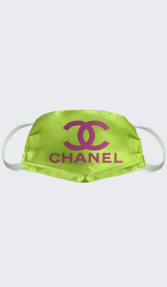 Neon Chanel Satin Fashion Mask