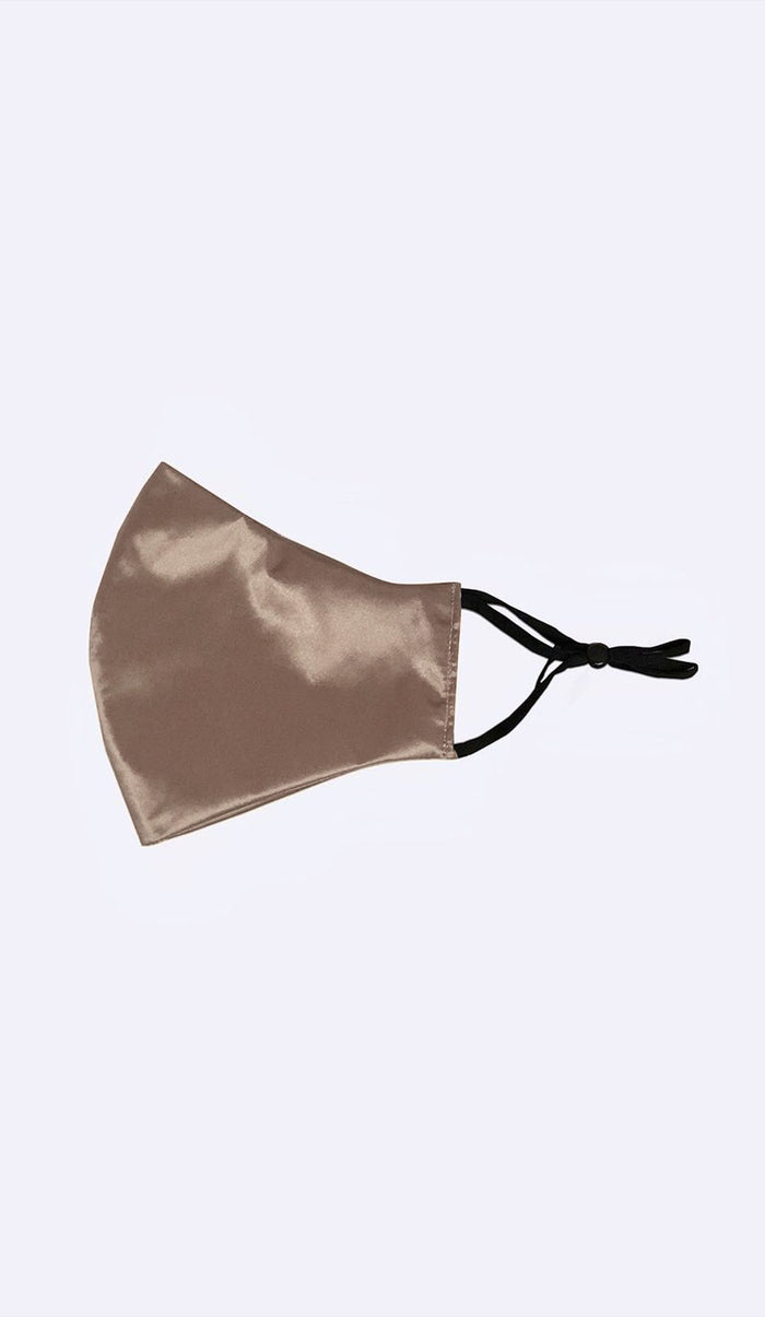 MULBERRY SILK FACE MASK - TAUPE