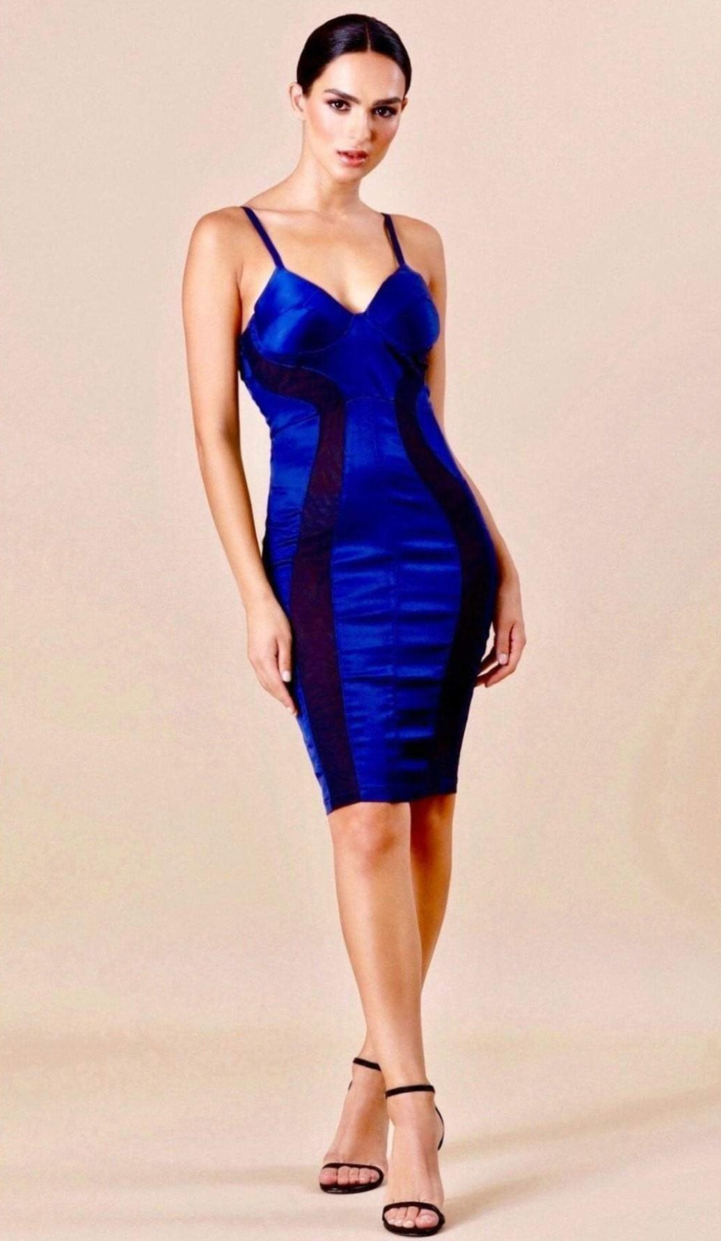 """ACACIA"" Satin Bodycon Dress - GLAMBAE FASHION"