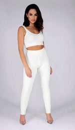 ASHLEY Teddy Knit Pants  - Cream