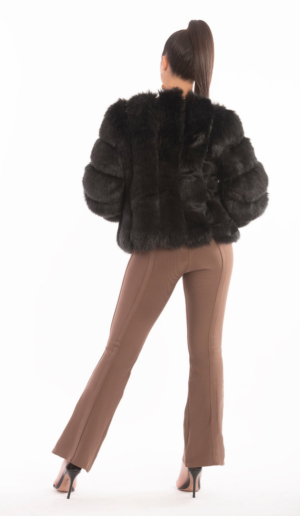 """ZINA"" Faux Fur Coat - GLAMBAE FASHION"
