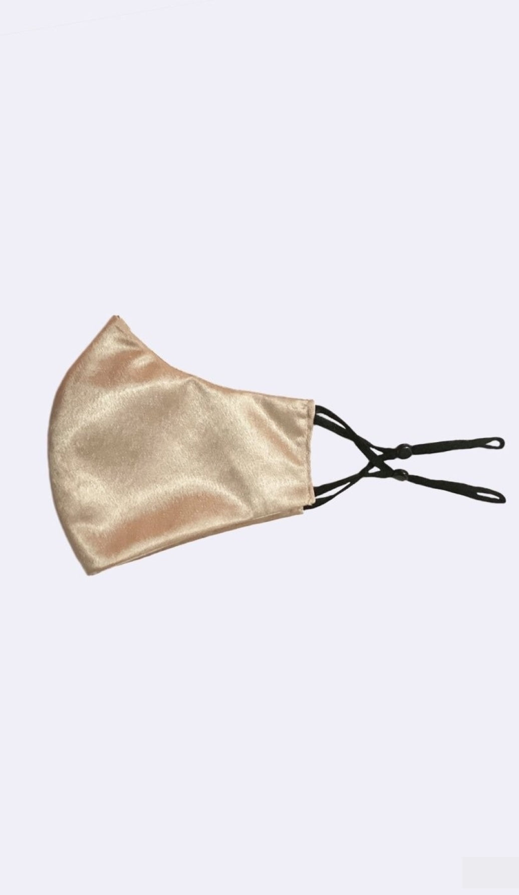 SATIN CHAMPAGNE MASK