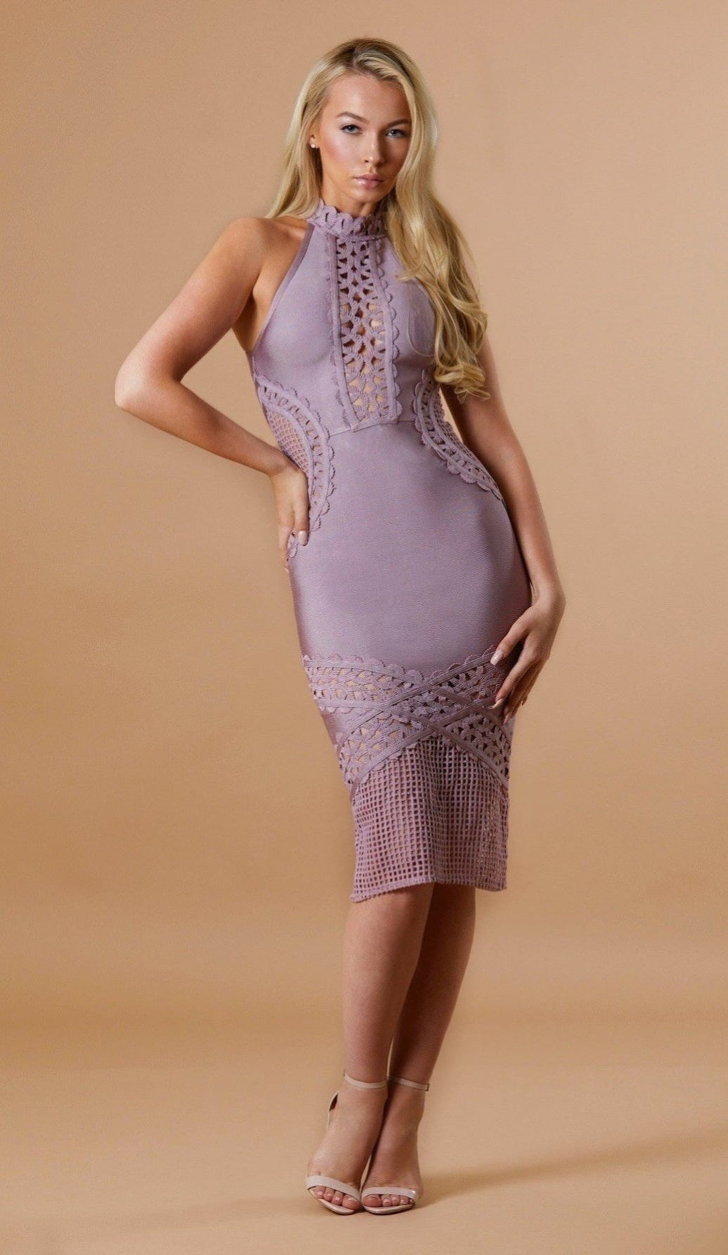 """DIAMOND""  Bandage Midi Dress"