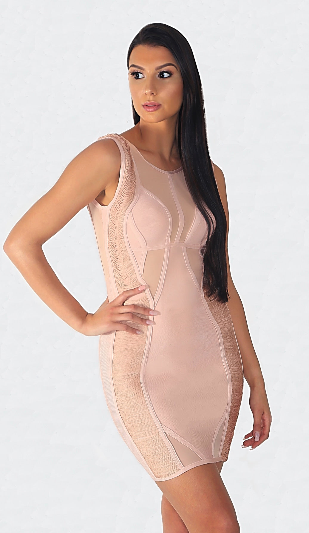 'STACEE' Mesh Ruched String Dress