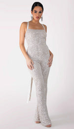 HALLIE Sequin Jumpsuit