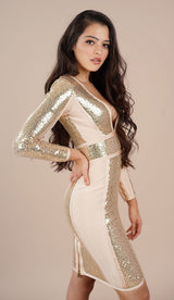 'JESSA' Sequin Bodycon Dress