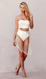 """INDIA"" Fringe  Bandage Bandeau Top"