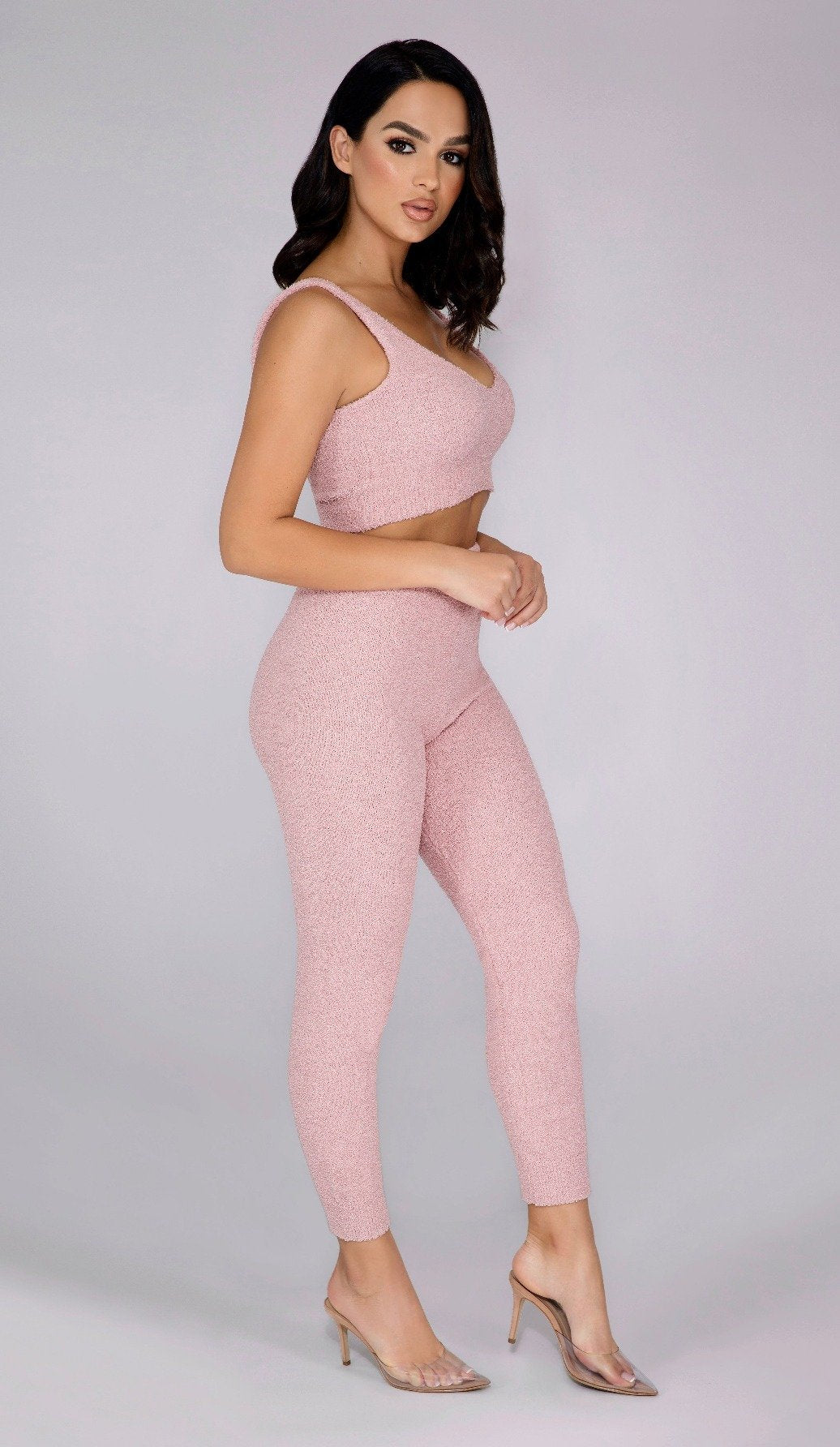 ASHLEY Teddy Knit Pants - Blush