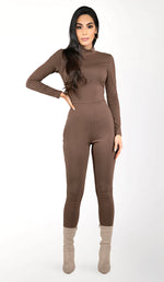 MICAELA Jumpsuit- Chocolate