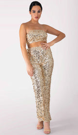 NAPIZA Sequin Crop Top