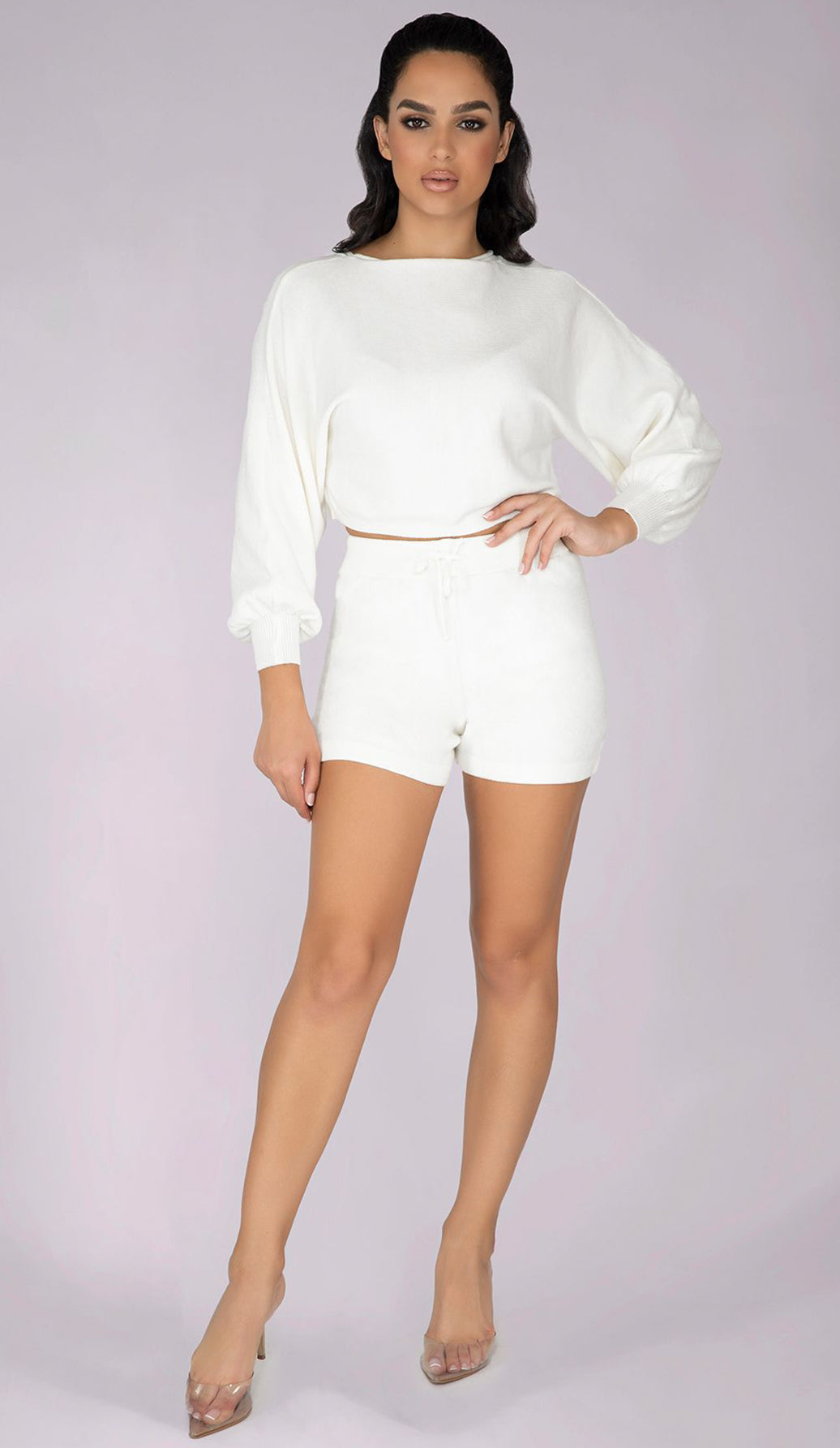 PAMELA High Waisted Shorts - Cream