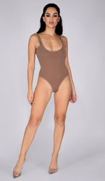 TREA Ribbed Bodysuit - Chocolate