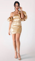WILLA Mini Dress - Gold