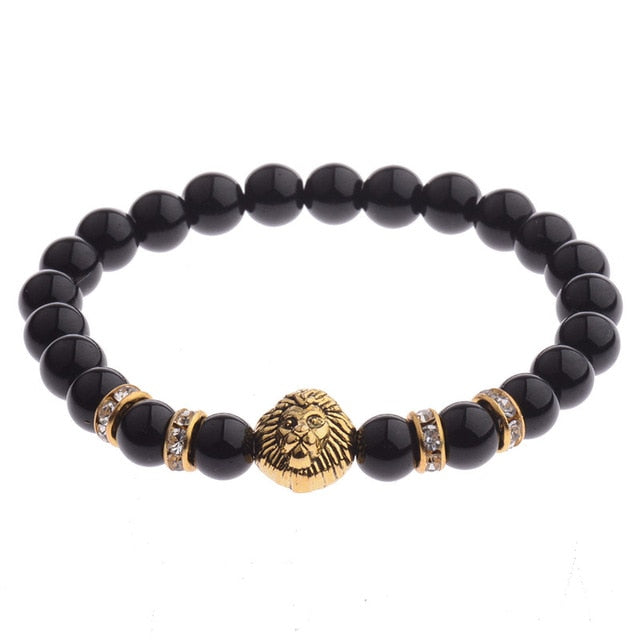 Richard The Lionheart Bracelet (Onyx Beads)