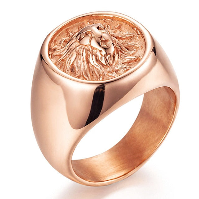 The Lionheart Rose Gold Ring