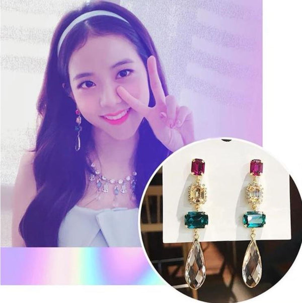 Black Pink Jisoo Earrings (K-POP Edition)