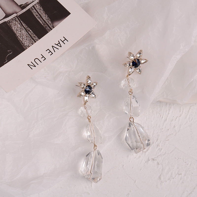 SUNMI Crystal Flower Earrings (K-POP Edition)