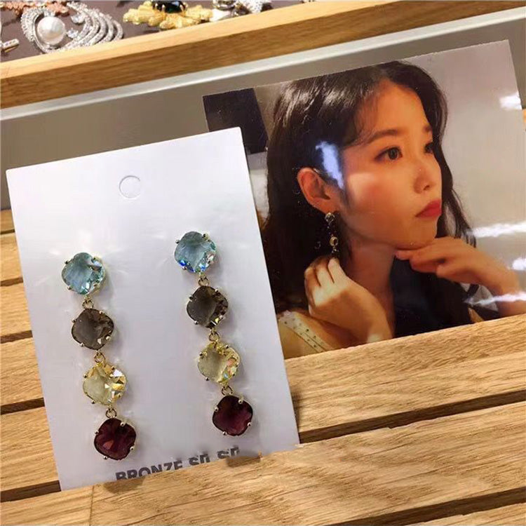 IU Colorful Stone Earrings (K-POP Edition)