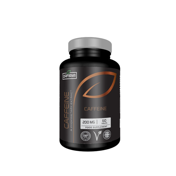 Caffeine 200 MG | 60 Tablets | UK Manufactured | Vegan and Vegetarian Friendly