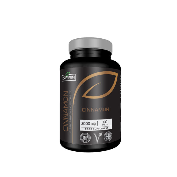 Cinnamon 2000 MG | 60 Tablets | Natural Stimulant | Vegan and Vegetarian Friendly