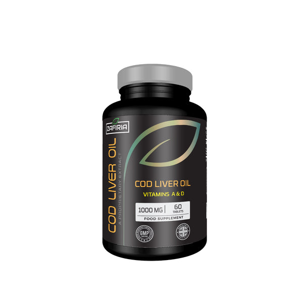 Cod Liver Oil 1000 MG | Vitamin A and D | EPA & DHA | 60 Softgels | UK Manufactured