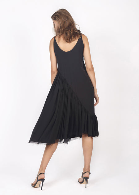 ASYMMETRICAL SLIPDRESS
