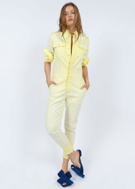 'GOALS COME TRUE' JUMPSUIT YELLOW