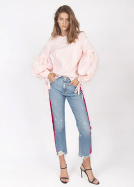 PINK STRIPE DENIM