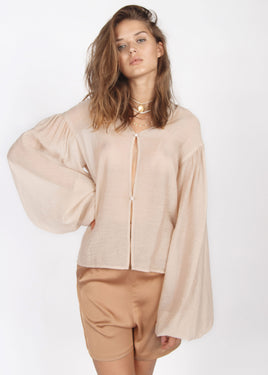 SMOKY BEIGE WEIGHTLESS BLOUSE