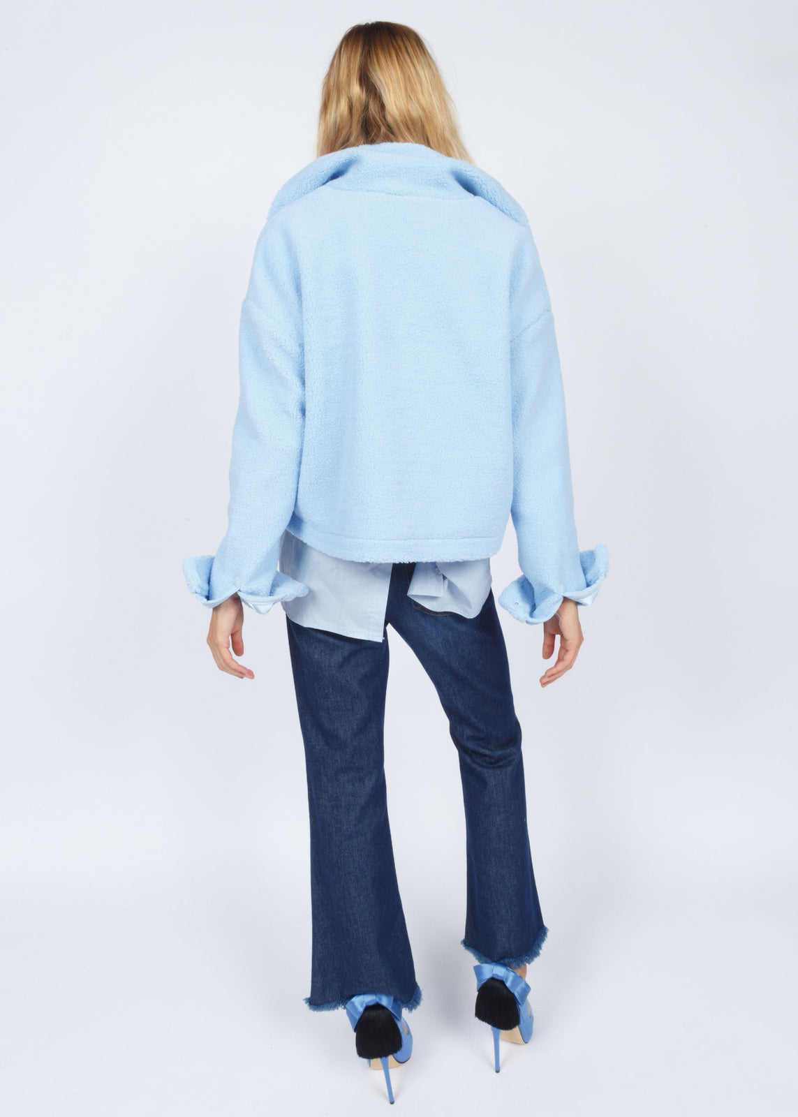 TEDDY PULL OVER - MUTED BLUE