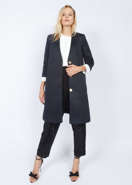 HAVEN COAT NAVY BLUE