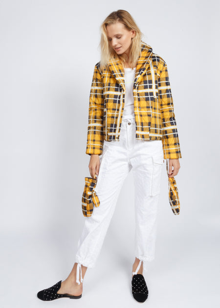 QUILTING YELLOW PUFFA JACKET