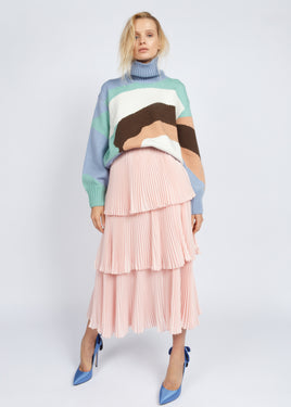 TURTLE NECK LANDSCAPE SWEATER