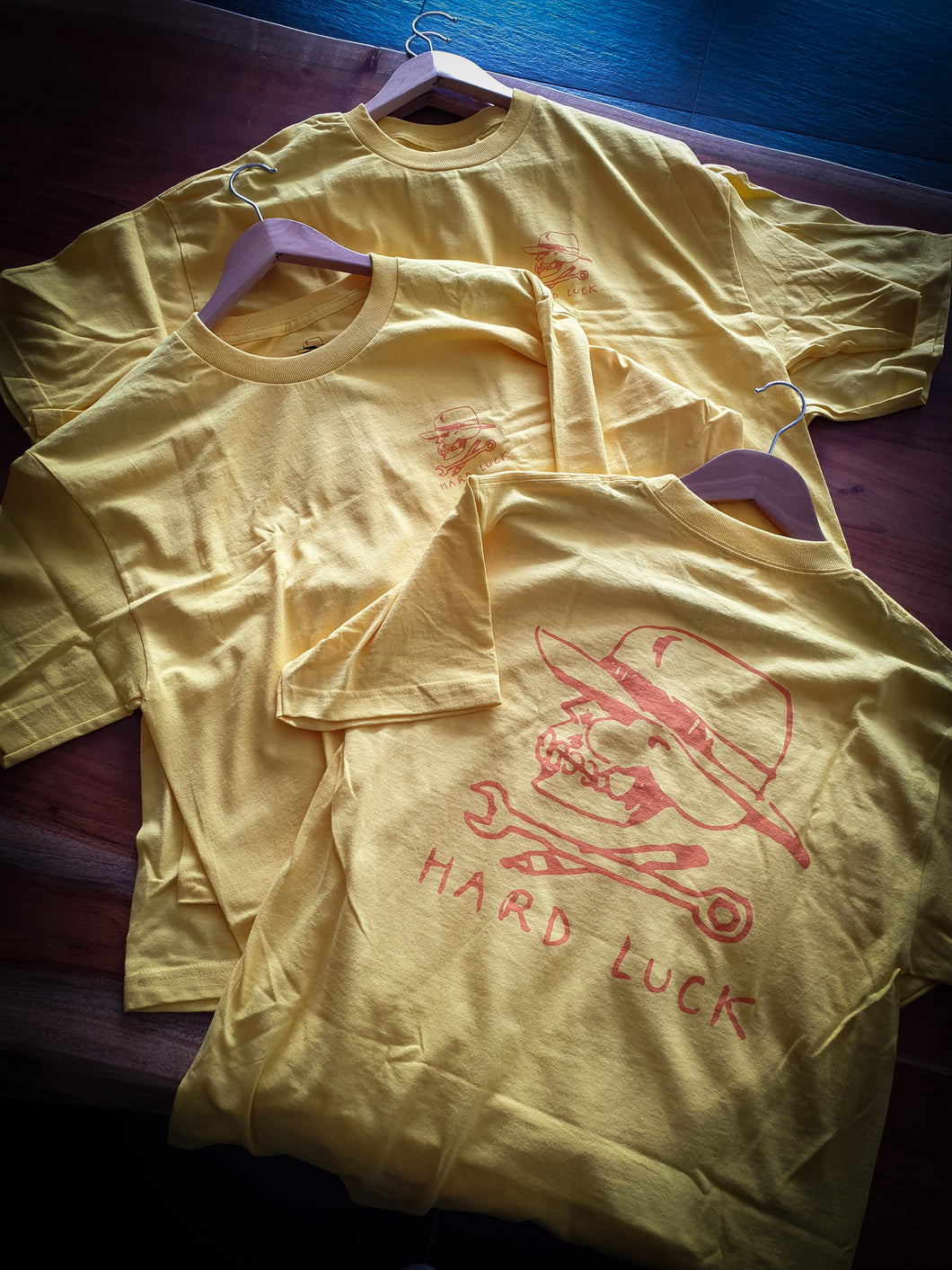 HARD LUCK - BON LOGO TEE - YELLOW