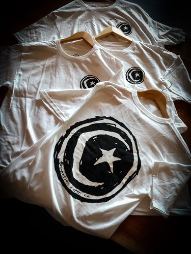 FOUNDATION - STAR AND MOON TEE - WHITE