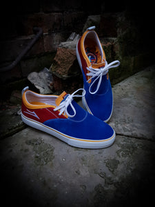 LAKAI - RILEY 2 SHOES - BLUE/RED YELLOW SUEDE