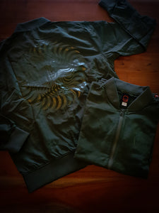 SPITFIRE - CLASSIC SWIRL BOMBER JACKET - ARMY GREEN