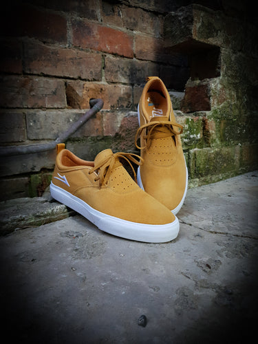 LAKAI - RILEY 2 SHOES - GOLD SUEDE