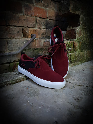 LAKAI - RILEY 2 SHOES - BLACK/BURGUNDY SUEDE