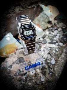 CASIO - VINTAGE LADIES DIGITAL WATCH - LA670WA-1UR - SILVER