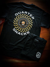 Load image into Gallery viewer, SPITFIRE X QUARTERSNACKS - CLASSIC TEE - BLACK