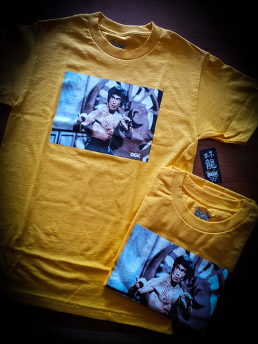 DGK - BRUCE LEE SCRATCH TEE - YELLOW