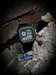 CASIO - VINTAGE DIGITAL WATCH - AE-1200WHB-1BVDF