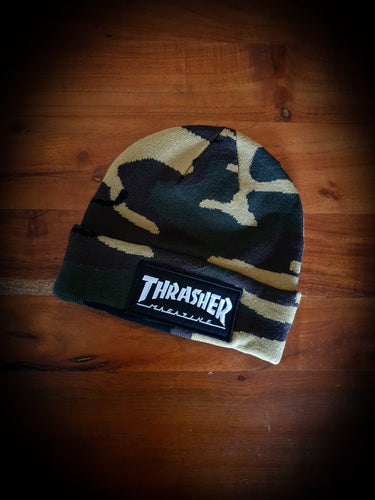 THRASHER - MAG LOGO PATCH BEANIE - CAMO