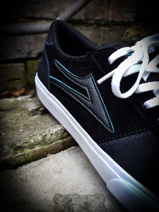 LAKAI X MERIDIAN - MANCHESTER SHOES - CHARCOAL/BLACK SUEDE
