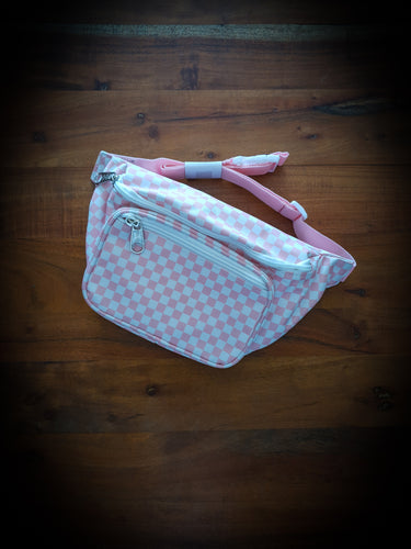 DICKIES - HIP SACK - PINK/WHITE CHECK