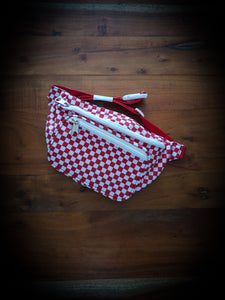 DICKIES - HIP SACK - RED/WHITE CHECK