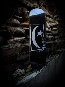 FOUNDATION - STAR AND MOON SQUARE BLACK DECK - 8.25""