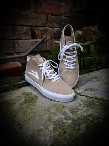 LAKAI - FLACO II MID SHOES - TAN SUEDE
